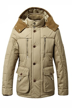 Stand Collar Single-Breasted Long Sleeve Down Jacket