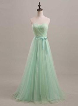 Temperament A-Line Ruched Lace-Up Evening Dress