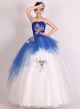 Sweet Ball Gown Strapless Quinceanera Dress