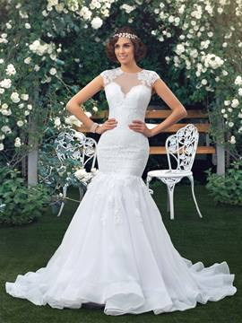 Classy Lace Mermaid/Trumpet Floor Length Wedding Dress