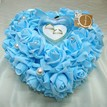 Romantic Heart Sharp Flowers Ring Pillow