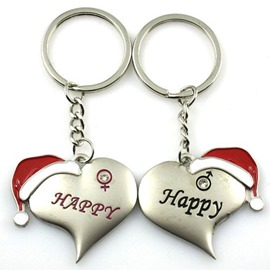Classic Christmas hat Zinc alloy Keychains
