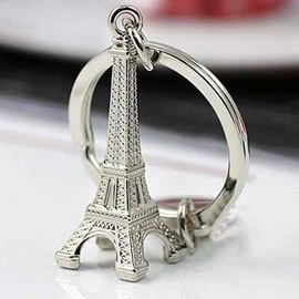Personalized Eiffel Tower Zinc Alloy Keychains