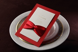 Classic Style Wrap & Pocket Invitation Cards With Bows (20 Pieces One Set)