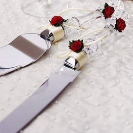 Romantic Crystal Roses Serving Sets