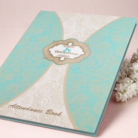 Tiffany Blue Wedding Guest Book