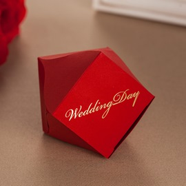 Red Diamond Wedding Favor Boxes