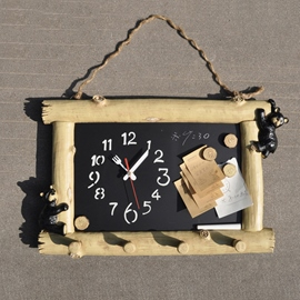 Creative Personality Household DIY Fun Wall Clock Message Board Table