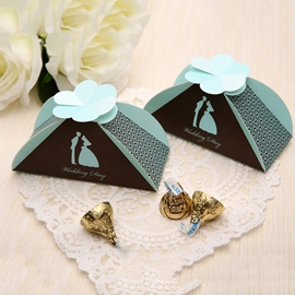 Wedding Day Pyramid Favor Boxes