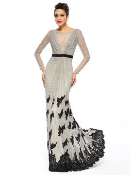 Luxurious Lace Long Sleeves Mermaid/Trumpet Evening Dress