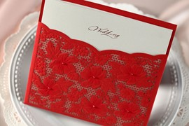 Wrap floral & Pocket cartes d'Invitation (20 pièces un ensemble)