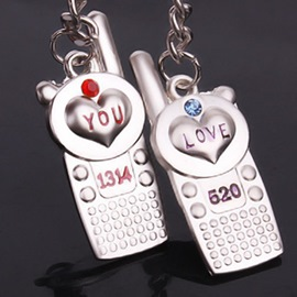 Classic Love you 1314 Cellphone Lovers Keychains