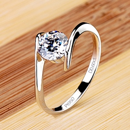 Ericdress Forever Love Diamond Wedding Ring