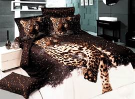 Deluxe Leopard Printing 4-Piece 3D Bedding Sets