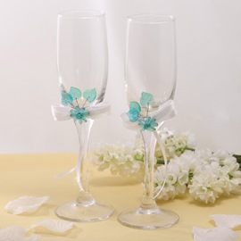 Leaves Theme Toasting Flutes(Set of 2)