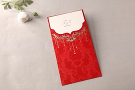 Classic Design Wrap & Pocket Invitation Cards (20 Pieces One Set)