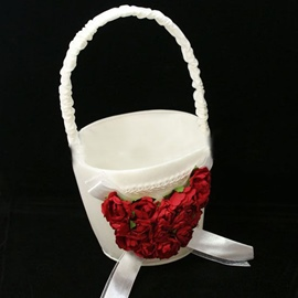 Flower Basket in Satin