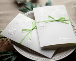 Classic Wrap & Pocket Invitation Cards (20 Pieces One Set)