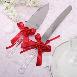 Romantic Satin Roses Serving Sets