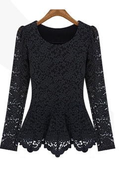 Korean Upscale Lace Chiffon Blouse