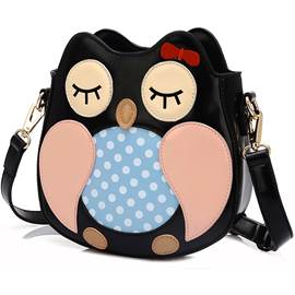 Cute Cartoon Owl Pattern Crossbody Bag