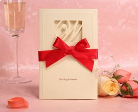 Originality Hollow Out Bowknot Wedding Invitation (20 Pieces One Set)