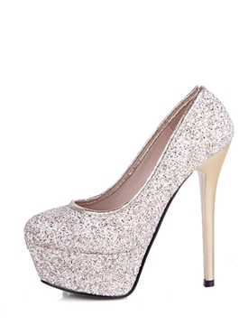 Charming Glitter Platform Stiletto Heel Pumps