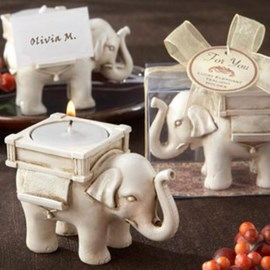 Romantic Elephant Candle Favor