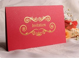 Gilding Wedding Invitation (20 Pieces One Set)