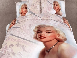Marilyn Monroe Printing 4-Piece 3D Bedding Sets