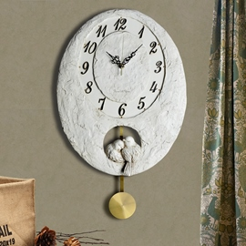 Creative Birds Couple Wall Hanging Clock
