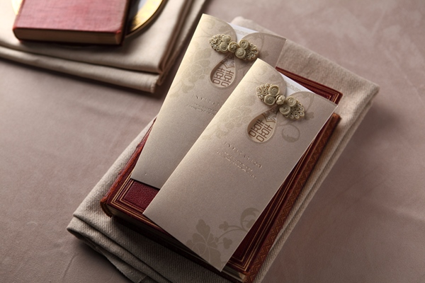 Classic Style Wrap & Pocket Invitation Cards (20 Pieces One Set)