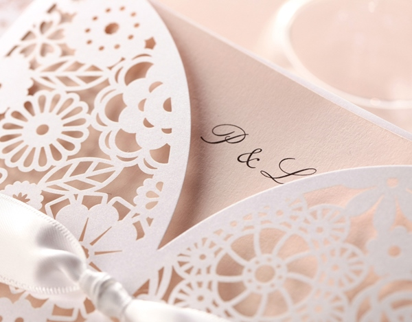 Personalized Card Paper Invitation Cards With Ribbons (20 Pieces One Set)