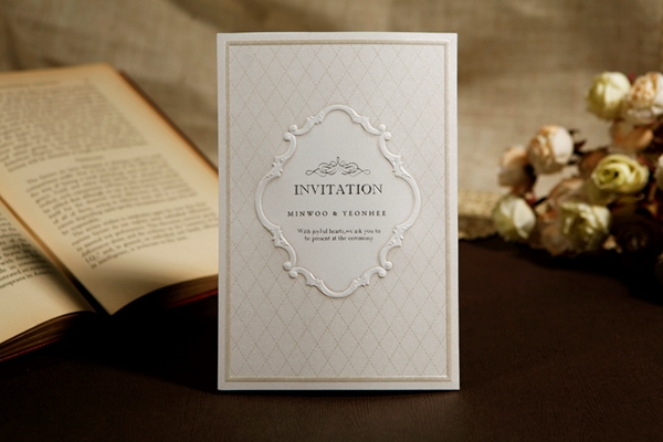 Concise And Tri-Fold Invitation Cards (20 Pieces One Set)
