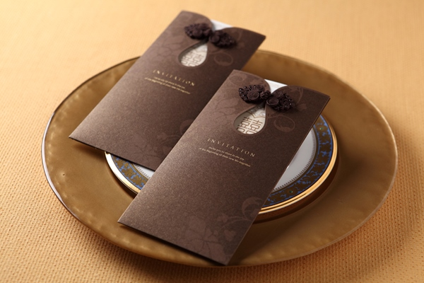 Beautiful Wrap & Pocket Invitation Cards (20 Pieces One Set)