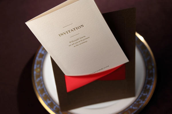 Classic Flat Card Invitation Cards With Ribbons (20 Pieces One Set)