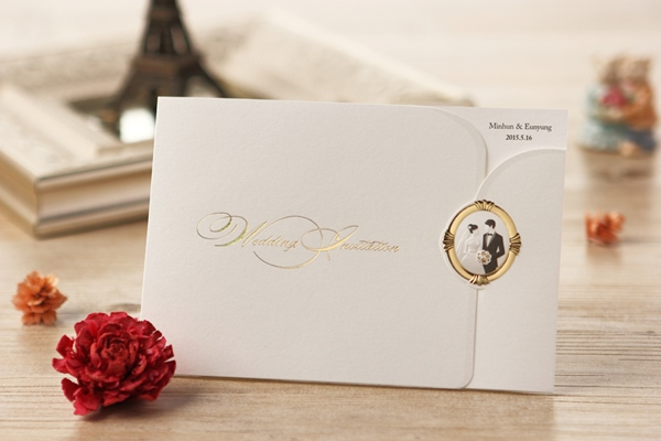 Bride & Groom Z-Fold Invitation Cards (20 Pieces One Set)