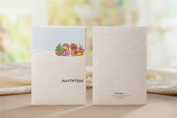 Personalized Wedding Invitation With Mandarin Duck (20 Pieces One Set)