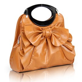 Pretty Bowknot Pure Color Handbag for Women