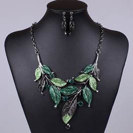Delicate Leaf Jewelry Sets for Women