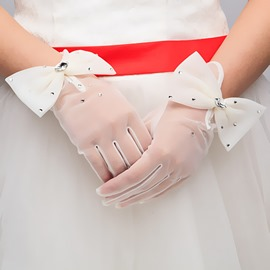 Pretty Bowknot Wedding Gloves