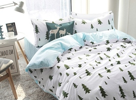 Ericdress Fresh Deer Pine Tree Cotton Bedding Sets