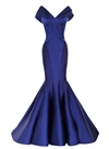 Timeless Off-the-Shoulder V-Neck Mermaid Floor-Length Evening Dress