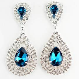 Fantastic Water-drop Diamante Earrings for Women