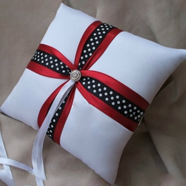 Wedding Ring Pillow With Ribbons