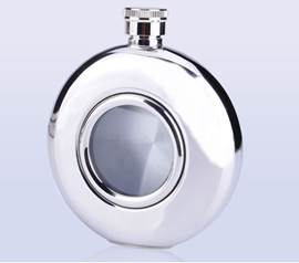 Personalized Stainless Steel XO 5-0Z Flask