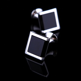 Classical Personalized Charming Black Rhineston Men's Cufflinks