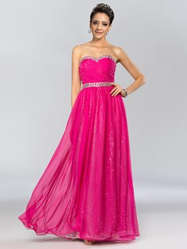 Glamorous Sweetheart Beading A-Line Long Prom Dress