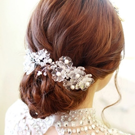 Ericdress Charming Crystal Hair Flower