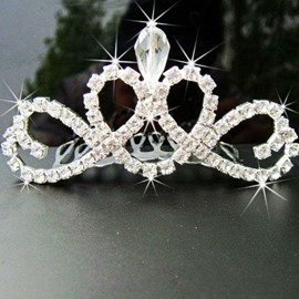 Alloy with Rhinestone Flower Girl Tiaras